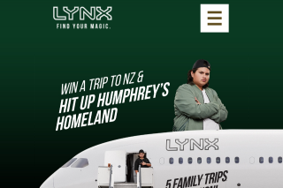 Participating stores and Lynx – Win a Five Thousand-Dollar ($5000) Flight Centre Voucher Towards a Trip to New Zealand (prize valued at $25,000)