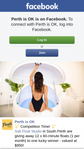 Perth is OK – 12 X 60-minute Floats (1 Per Month) to One Lucky