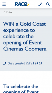 RACQ – Win a Weekend Experience on The Gold Coast (prize valued at $930)