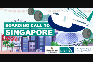 Radio 4ca Cairns – Win a Trip for Two to Singapore Including Return Airfares on Silkair (prize valued at $5,000)