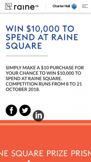 Raine Square – Win a Trip of a Lifetime With Flight Centre (prize valued at $10,000)