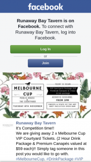 Runaway Bay Tavern – 2 X Melbourne Cup VIP Courtyard Tickets (prize valued at $59)