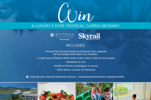 Skyrail Rainforest Cableway – 2 Nights at The Pullman Reef Hotel Casino Junior Suite for Two People Including Breakfast (prize valued at $1,548)