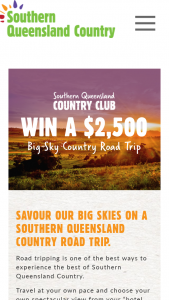 Southern Queensland Country Tourism – Win a $2500 Big Sky Country Road Trip (prize valued at $2,500)