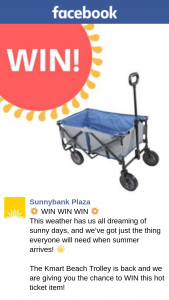 Sunnybank Plaza – Win this Hot Ticket Item (prize valued at $100)