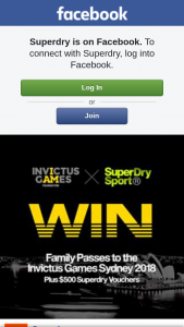 Superdry – Win The Following (prize valued at $55)