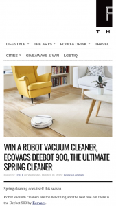 The F – Win a Robot Vacuum Cleaner