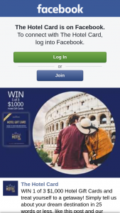 The Hotel Card – Win 1 of 3 $1000 Hotel Gift Cards and Treat Yourself to a Getaway