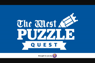 The West Puzzle Quest 16 – Competition (prize valued at $1,000)