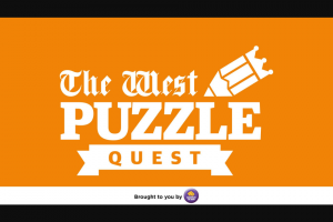 The West Puzzle Quest 23 – Competition (prize valued at $1,000)