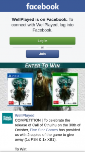 Well Played – Win a Copy of Call of Cthulhu