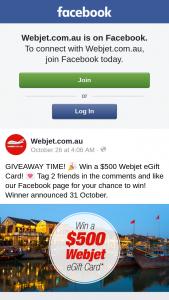 Win a $500 Webjet Egift Card (prize valued at $500)