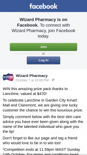 Wizard Pharmacy – Win this Amazing Prize Pack Thanks to Lancôme (prize valued at $470)