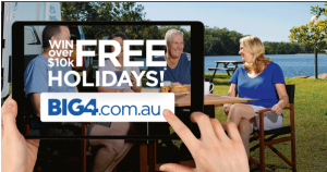 BIG4 Holiday Parks – Win 1 of 10 BIG4 Holiday Parks Gift vouchers valued at $1,000 each OR 1 of 25 runner-up prizes of 2-night accommodation each valued at $400 each