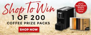 Bauer Media – MagShop – Win 1 of 200 Coffee prize packs valued at $250 each