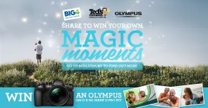 Big4 Holiday Parks – Magic Moments – Win an Olympus OM-D E-M1 Mark Pro kit valued at $3,499