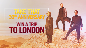 Channel Seven – Sunrise 'Take That' – Win a trip for 2 to London plus accommodation & tickets to Take That's performance (total valued at $6,250)