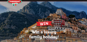 D'Orsogna – Win 1 of 4 Luxury Family Holidays (1 prize to Italy and 3 prizes to Bali) valued at up to $30,000