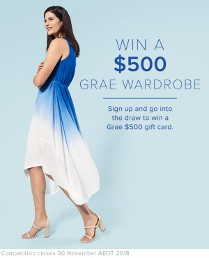 Suzannegrae – Win a major prize of a $500 Grae gift card OR 1 of 5 runners-up prizes of a $100 gift card each