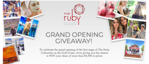 The Ruby Collection Gold Coast – Grand Opening – Win many prizes including 5-night stay in a 2-bedroom apartment plus $500 dining valued at $3,680 (total prizes valued at $8,500)
