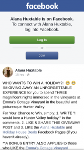 Alana Huxtable-Holiday House Deals – Win a Holiday