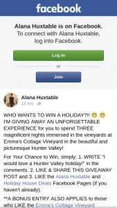 Alana Huxtable-Holiday House Deals – Win a Holiday