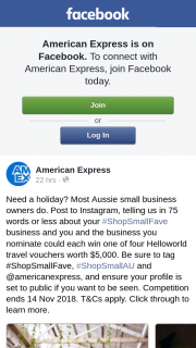 American Express Shop Small Business – Win an Aud$5000 Travel Voucher (plus One for Your Nominated Business) Just for Snapping and Sharing Your Favourite Small Business on Insta