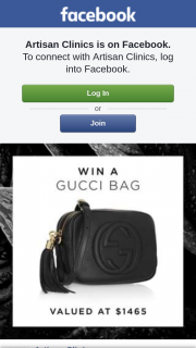 Artisan Clinics – Win this Gucci Bag Valued at $1465 (prize valued at $1,465)