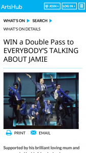 Artshub – Win a Double Pass to Everybody's Talking About Jamie