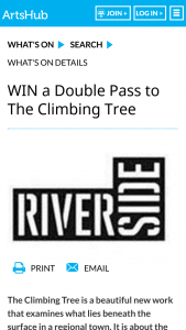 Artshub – Win a Double Pass to The Climbing Tree
