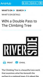 Artshub – Win a Double Pass to The Climbing Tree