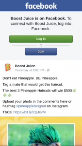 Boost Juice – Win One of Three $500 Cash Prizes (prize valued at $1,500)