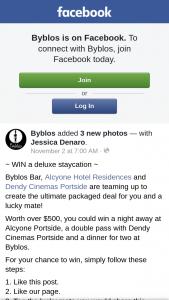 Byblos Brisbane – Win a Night Away at Alcyone Portside