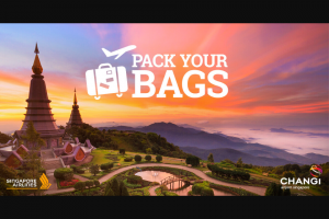 Changi Airport Singapore – Win One of The (prize valued at $1,533.03)
