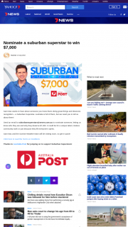 Channel 7 – Sunrise Nominate a Suburban Superstar – Competition