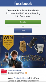 Costume Box – Win a Fantastic Beasts Prize Pack Valued at $65. (prize valued at $65)