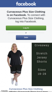 Curvaceous Plus Size Clothing – Win Stretch T-Shirt Jersey Shorts With Pockets (prize valued at $40)