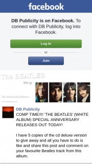 DB Publicity – and All You Have to Do Is Like and Share this Post and Comment on Your Favourite Beatles Track From this Album