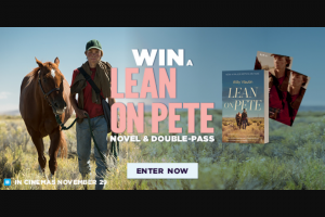 Dendy Cinemas – Win a Lean on Pete Prize Pack Including