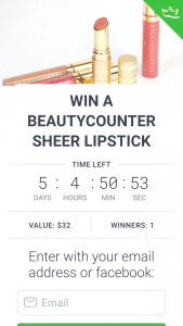 Elizabeth Tedder – Win a Beautycounter Sheer Lipstick (prize valued at $32)