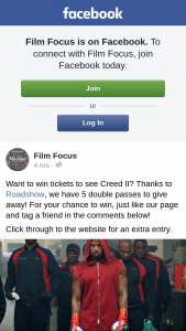 Film Focus – Tickets to See Creed Ii