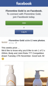 Florentine Gold – Win 1 of 3 X 200ml Body and Joint Rubs ??? (prize valued at $150)