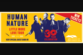102.9FM Hot Tomato – myGC – Win Tickets to See Human Nature