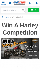 Hare and Forbes Machinery House – Win The New Harley-Davidson Iron 883. (prize valued at $16,685)