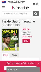Inside Sport Mag – Win a Prize Pack Valued at Over $420 (prize valued at $429)