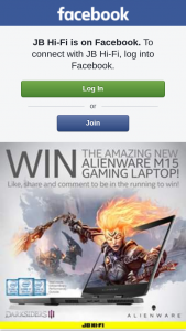 JB HiFi – Win an Amazing New Alienware M15 15.6″ Gaming Laptop (prize valued at $2,999)