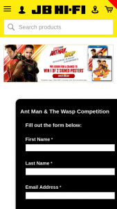 JB HiFi – Win 1 of 2 Posters Signed By Paul Rudd and Evangeline Lily (prize valued at $400)