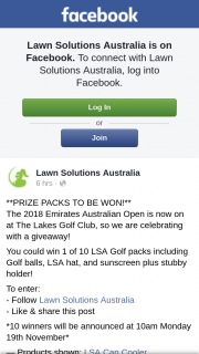 Lawn Solutions Australia – Win 1 of 10 Lsa Golf Packs Including Golf Balls