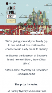 Lonely Planet – Win a City Break to Sydney to Discover The Museum of Sydney's Brand New Exhibition (prize valued at $4,389)