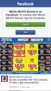 Mega Meats Booval – Win a $50 Voucher (prize valued at $50)